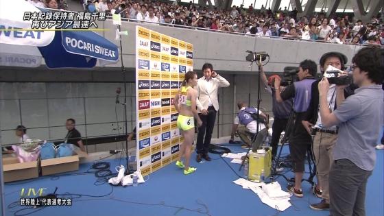 福島千里 腹筋とお尻の食い込みが素敵な競技中キャプ 画像19枚 19
