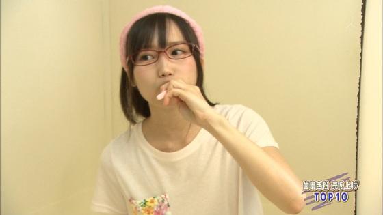 加藤里保菜 メガネなしの歯磨き姿&太ももキャプ 画像30枚 2