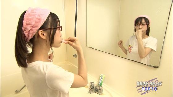 加藤里保菜 メガネなしの歯磨き姿&太ももキャプ 画像30枚 6