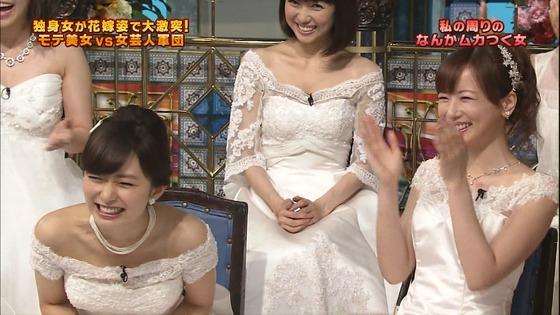 伊藤綾子 さんま御殿のウェディング姿胸チラキャプ 画像30枚 10