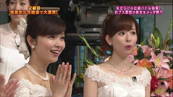 伊藤綾子 さんま御殿のウェディング姿胸チラキャプ 画像30枚 12