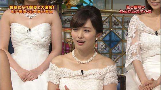 伊藤綾子 さんま御殿のウェディング姿胸チラキャプ 画像30枚 14