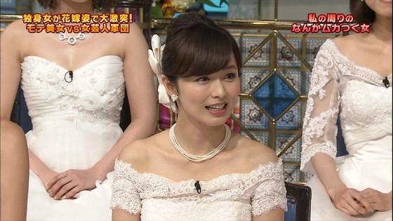 伊藤綾子 さんま御殿のウェディング姿胸チラキャプ 画像30枚 15