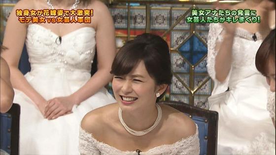 伊藤綾子 さんま御殿のウェディング姿胸チラキャプ 画像30枚 18