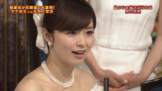 伊藤綾子 さんま御殿のウェディング姿胸チラキャプ 画像30枚 19