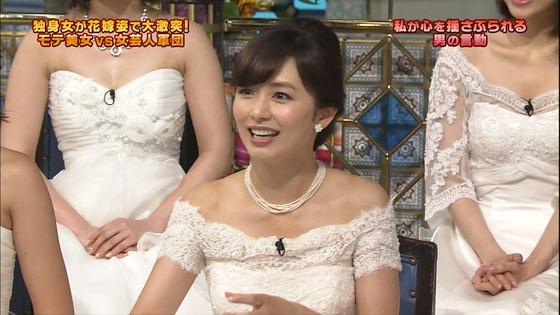 伊藤綾子 さんま御殿のウェディング姿胸チラキャプ 画像30枚 20