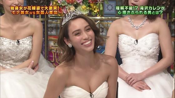 伊藤綾子 さんま御殿のウェディング姿胸チラキャプ 画像30枚 27