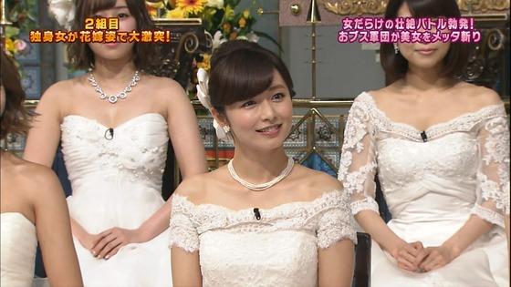 伊藤綾子 さんま御殿のウェディング姿胸チラキャプ 画像30枚 2