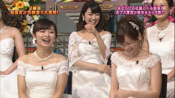 伊藤綾子 さんま御殿のウェディング姿胸チラキャプ 画像30枚 3