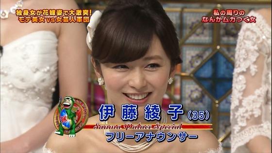 伊藤綾子 さんま御殿のウェディング姿胸チラキャプ 画像30枚 5