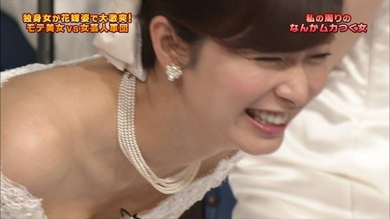 伊藤綾子 さんま御殿のウェディング姿胸チラキャプ 画像30枚 6