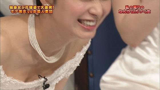 伊藤綾子 さんま御殿のウェディング姿胸チラキャプ 画像30枚 7