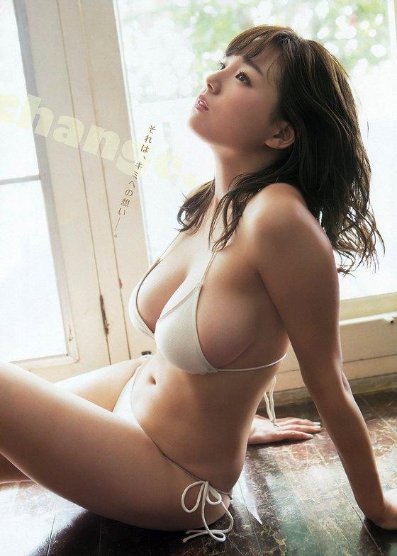 篠崎愛 週プレのバスタオル姿Gカップ谷間最新グラビア 画像32枚 23