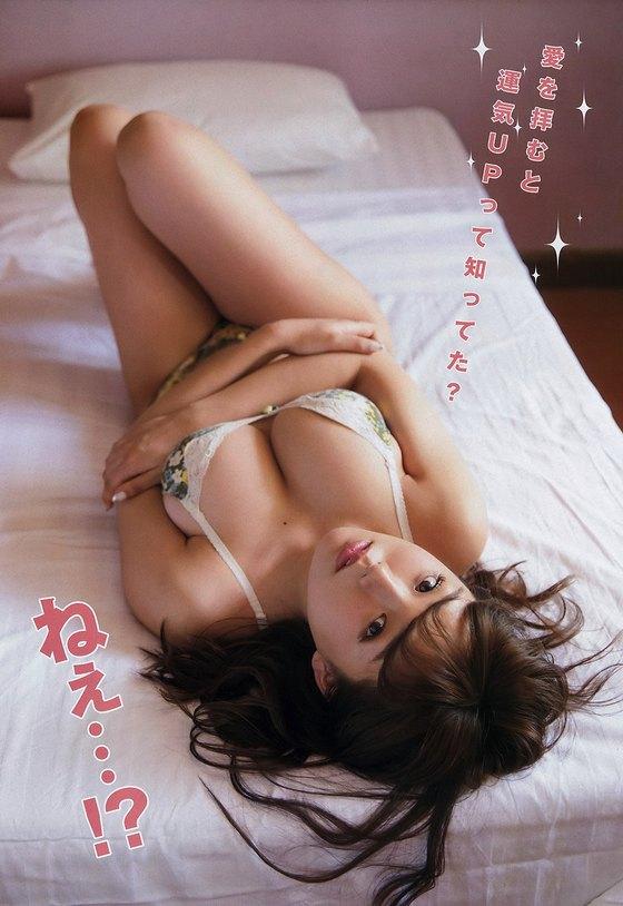 篠崎愛 週プレのバスタオル姿Gカップ谷間最新グラビア 画像32枚 29