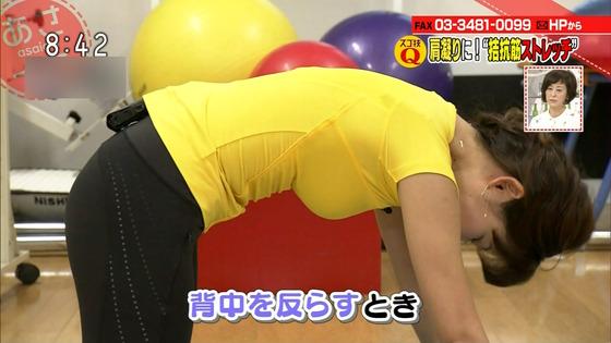 本橋恵美 NHKあさイチのDカップ着衣巨乳&胸チラキャプ 画像20枚 10