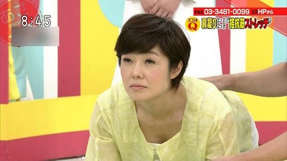 本橋恵美 NHKあさイチのDカップ着衣巨乳&胸チラキャプ 画像20枚 19