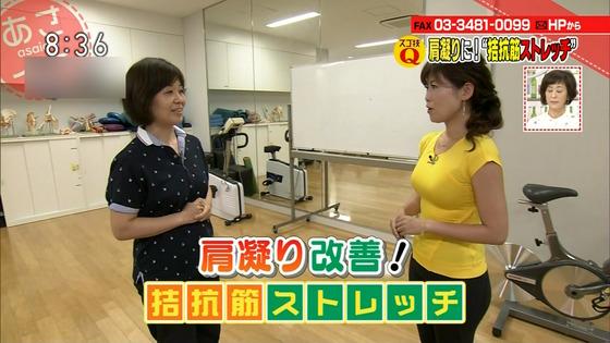 本橋恵美 NHKあさイチのDカップ着衣巨乳&胸チラキャプ 画像20枚 8
