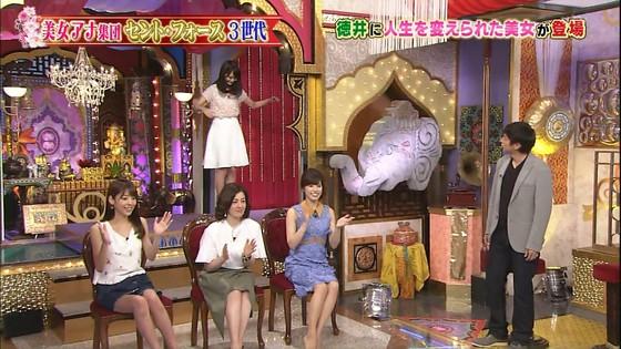 岡副麻希 今夜くらべてみましたのミニスカ美脚と腋チラキャプ 画像28枚 28