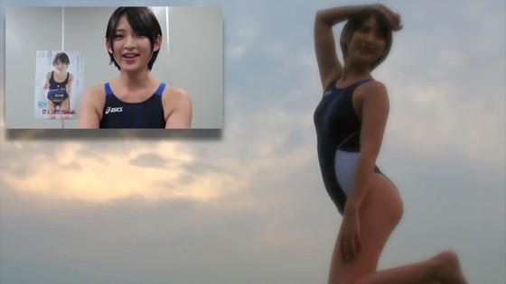 鈴木咲 競泳水着姿のAカップ貧乳ソフマップイベント 画像30枚 16