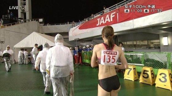 福島千里 腹筋と腋が素敵だった日本陸上選手権キャプ 画像47枚 17