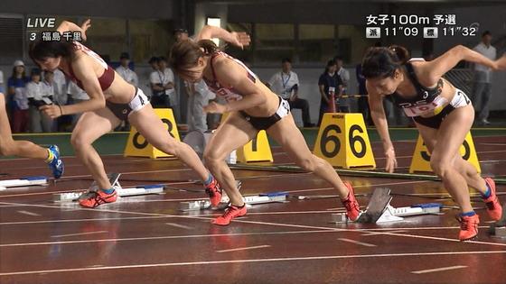福島千里 腹筋と腋が素敵だった日本陸上選手権キャプ 画像47枚 9