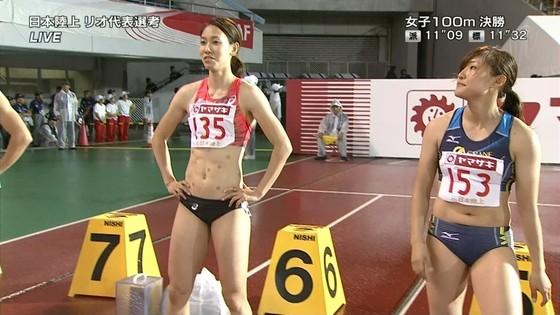 女子陸上選手の腹筋と腋が素敵な日本陸上選手権2016キャプ 画像31枚 11