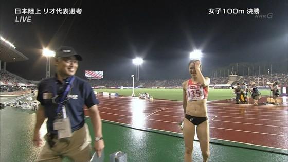 女子陸上選手の腹筋と腋が素敵な日本陸上選手権2016キャプ 画像31枚 17