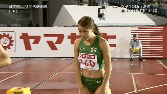 女子陸上選手の腹筋と腋が素敵な日本陸上選手権2016キャプ 画像31枚 19