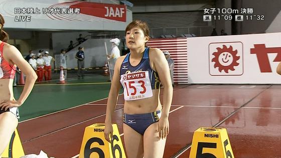 女子陸上選手の腹筋と腋が素敵な日本陸上選手権2016キャプ 画像31枚 23