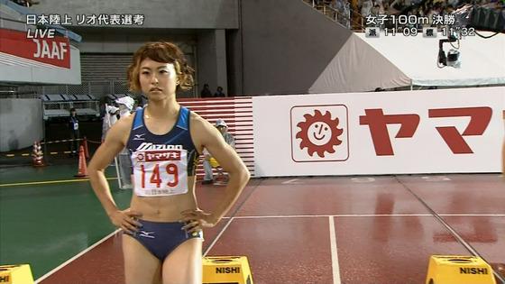 女子陸上選手の腹筋と腋が素敵な日本陸上選手権2016キャプ 画像31枚 26