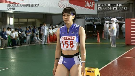 女子陸上選手の腹筋と腋が素敵な日本陸上選手権2016キャプ 画像31枚 27