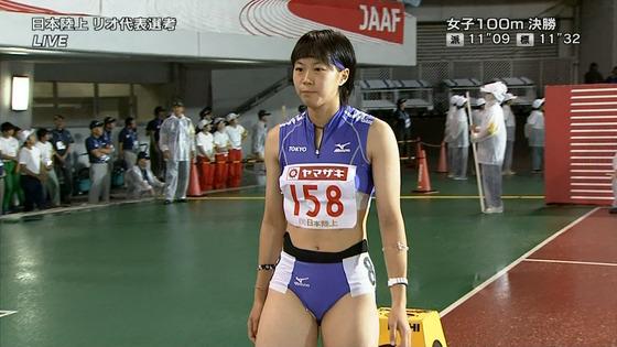 女子陸上選手の腹筋と腋が素敵な日本陸上選手権2016キャプ 画像31枚 28