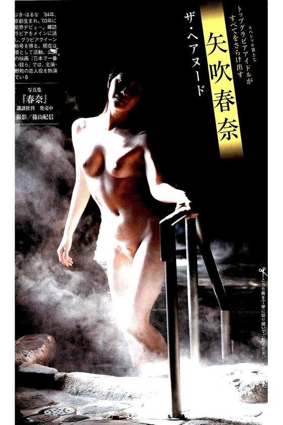 矢吹春奈 映画日本で一番悪い奴らの刺青ヌードグラビア 画像26枚 17