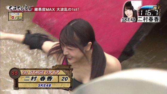 二村春香 SASUKEの水濡れDカップ水着姿キャプ 画像20枚 11
