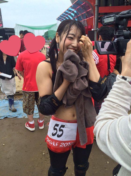 二村春香 SASUKEの水濡れDカップ水着姿キャプ 画像20枚 14