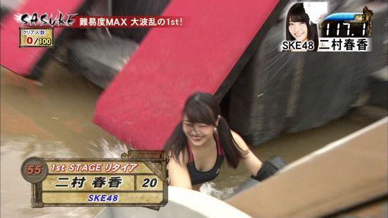 二村春香 SASUKEの水濡れDカップ水着姿キャプ 画像20枚 9
