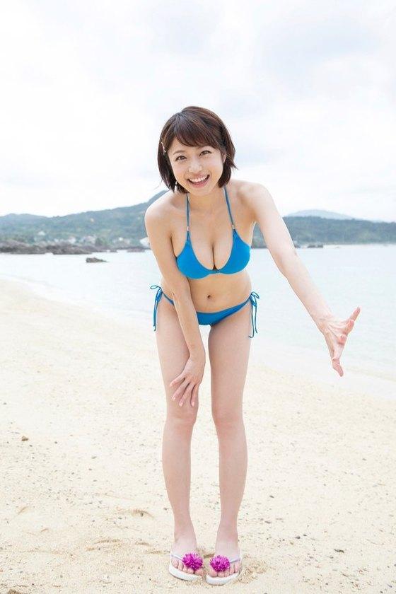 中村静香 DVDしずかの季節の水着Fカップ谷間キャプ 画像52枚 4