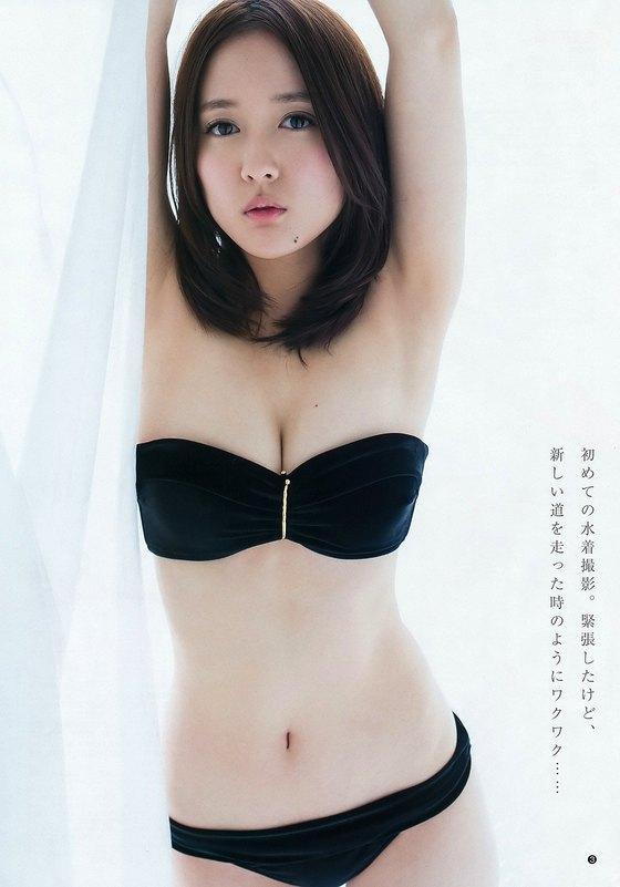 生田佳那 ヤンジャンの水着姿Eカップ谷間 画像22枚 21
