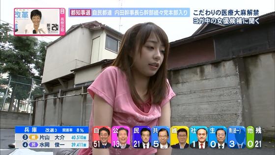 宇垣美里 選挙特番のヨガポーズ&お澄まし顔キャプ 画像27枚 23