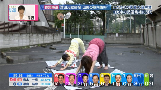 宇垣美里 選挙特番のヨガポーズ&お澄まし顔キャプ 画像27枚 27