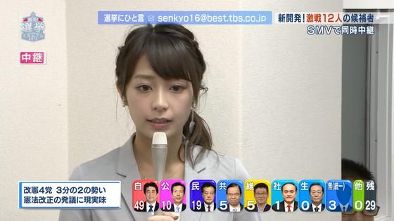 宇垣美里 選挙特番のヨガポーズ&お澄まし顔キャプ 画像27枚 6