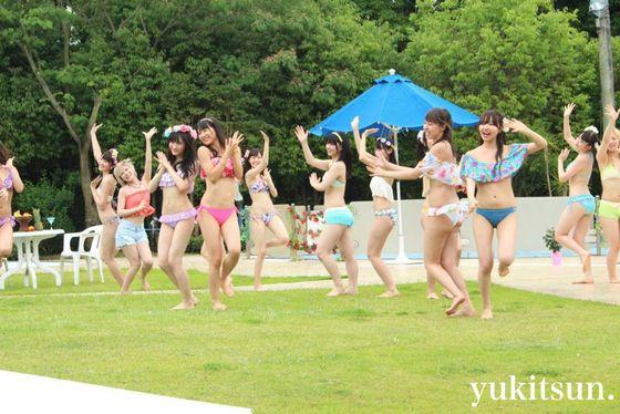 NMB48 新曲最後の五尺玉MVのオフショット水着姿 画像21枚 11