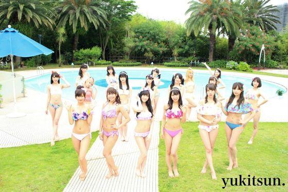 NMB48 新曲最後の五尺玉MVのオフショット水着姿 画像21枚 9