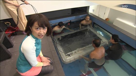 相内優香 テレ東WBSの水着姿ムチムチEカップ巨乳キャプ 画像30枚 5
