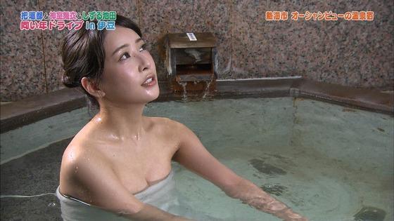 神室舞衣 露天風呂入浴で披露したDカップ谷間キャプ 画像18枚 15