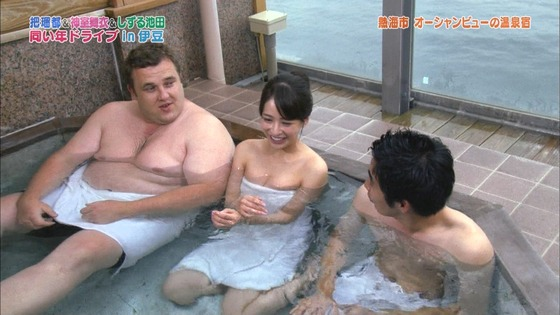 神室舞衣 露天風呂入浴で披露したDカップ谷間キャプ 画像18枚 17