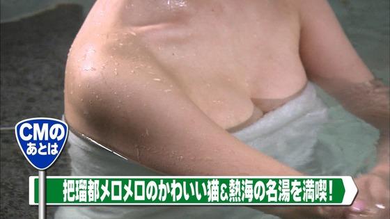 神室舞衣 露天風呂入浴で披露したDカップ谷間キャプ 画像18枚 3