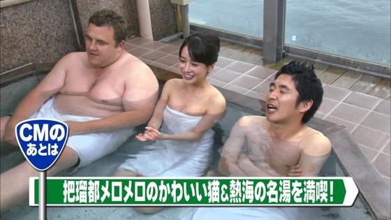 神室舞衣 露天風呂入浴で披露したDカップ谷間キャプ 画像18枚 4