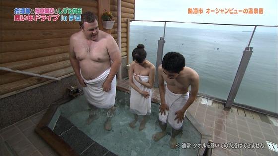 神室舞衣 露天風呂入浴で披露したDカップ谷間キャプ 画像18枚 7