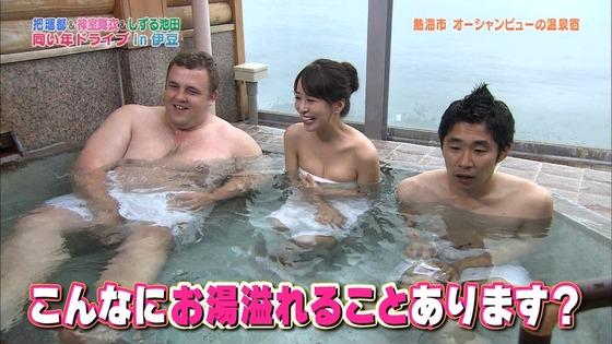 神室舞衣 露天風呂入浴で披露したDカップ谷間キャプ 画像18枚 8
